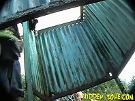 Bc440# Hidden camera in the beach cabin