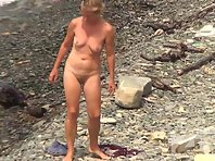 Nu2281# Nudists bathe, wash, sunbathe. They do all this naked. An ideal place to shoot voyeur videos