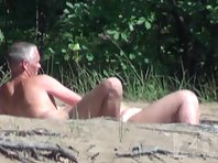 Nu1366# A man is tired to caressing his woman and they went just soak up the sun. But the guy dick