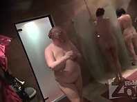 Sh1698# Several women immediately went into the shower. One very fat with big tits :-) The rest are
