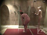 Sh1916# Voyeur video from shower room.