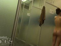 Sh1480# Our agents carried into the women's shower Hidden cam shower. Women do not know anything.