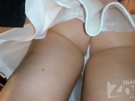 Up2520# Upskirt with a girl in a short white skirt. Another good model for shooting upskirt in the s