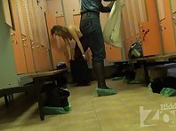 Lo1459# Hidden camera in the pool locker room. Young babe in bikini changing it. Excellent video f