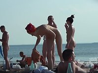 Nu1348# Nude beach voyeur camera takes several naked women. Close-up, we can observe their pussy a