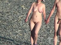 Nu1524# Nudist beach - the perfect place to shoot a great Nude beach voyeur. Beautiful girls, sun