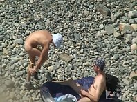 Nu1190# Blowjob on the beach in the sun - it's fine! She sucks while sunbathing.