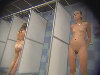 Hidden camera in the women's shower sports club.