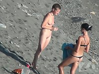 Nu1512# Sun, sea and naked women. That's all - nude beach, the best place on earth. Nude beach voy