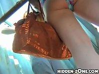 Bc252# Hidden camera in the beach cabin