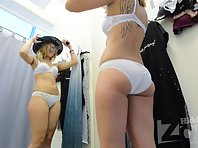 Sp2272# The new girl went into the fitting room. We are waiting for a new fascinating acquaintance :