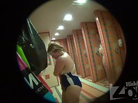 Sh942# Blonde with big ass and small tits wiped off after a shower