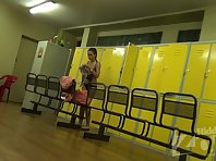 Lo1452# Hidden camera in the pool locker room. Young bikini babe changing her clothes. Excellent s