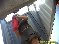 Bc998# Hidden camera in the beach cabin