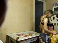 Sp1281# The guy undresses her and caresses her breast.