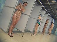Video filmed by hidden camera in the women's shower
