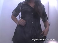 Pv239# Low Tanned brunette undresses slowly right in front of our hidden camera. Small tits and s