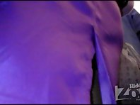 Up1751# A girl in a purple skirt. She was with a young man, but that did not stop me. Round ass in