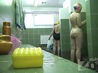 Sh1995# Our agent picked up a camouflaged camera and walked with her through the shower. At close ra