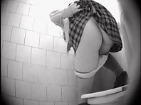 Wc433# Voyeur video from toilet