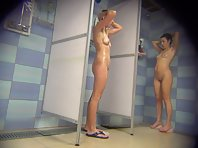 Spy camera in the women's shower basin.