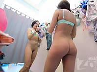 Sp2640# The girl tries on swimwear, she took off her panties several times. In addition to a pretty