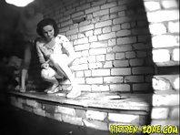 Wc612# Voyeur video from toilet