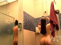Sh1529# Cute woman taking a shower right in front of Hidden cam shower. Watch it - a pleasure. Bea