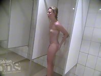 Sh1784# The hidden camera in the shower room is well disguised and the girls do not notice anything.
