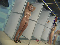 Spying on naked girls in the shower