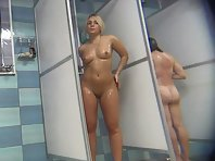 Hidden camera in the female shower
