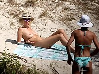 Nu1982# Naked girl walks on the beach. We can clearly see her tits and cunt. Watch and enjoy!