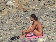 Nu1272# We continue to enjoy the pleasures of young nude woman vacationing on the nude beach voyeu