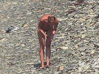 Nu1452# Nude beach voyeur cam continues to secretly watch the nudist beach. People walk, talk, bat