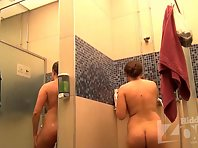 Sh1527# Girls continue to take a shower and Hidden cam shower continues to watch over them. Naked