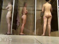 Sh1934# In this video, we observe immediately three young women. Everyone can be well seen from all