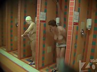 Sh1053# Woman soaping in the shower. Excellent video for fans of older women.