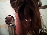Wc1871# Girl pee elastic jet not sitting on the toilet. Our hidden camera shot of her hairy crotch