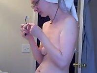 Unaware Innocent Nerd spycam