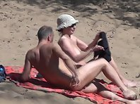 Nu1859# Our camera is closely monitoring everything that happens on a nudist beach. The most interes