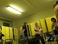Lo1396# A locker room voyeur cam in the locker room pool. There are a lot of different girls and w