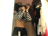 Sp1766# Girl continues a fitting by supervised of amateur spy sex cam. Her young sexy body perfect