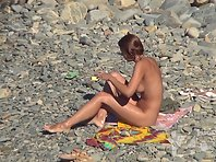 Nu1614# Nude beach voyeur cam switch to close-ups. We can consider in detail the girl's pussy and