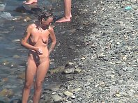 Nu1432# Girls continue morning washing, and we admire their young bodies. One of the girls are ver