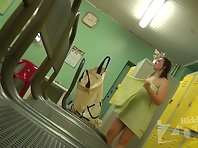 Lo1212# Young plump woman went for a long time after a shower in a towel, but then still managed t