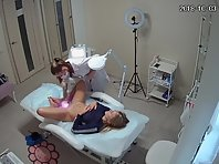 Voyeur in cosmetic salon #6