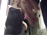 Sp1863# Pretty woman with big tits continues to try on underwear under the care spy sex cam. her a