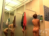 Sh1530# In this video Hidden cam shower view little changed. Now we see the whole shower room. So
