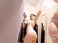 Sp2426# Pretty woman took out a mobile phone and takes a selfie in her underwear. Must make excellen
