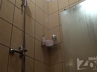 Sh1391# In the frame Hidden cam shower cute brunette. The camera angle changed a bit and we can ev